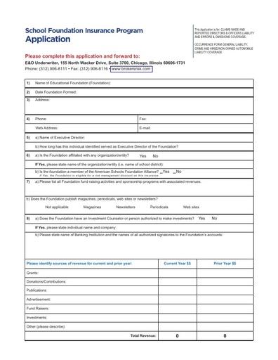 SFIP Application